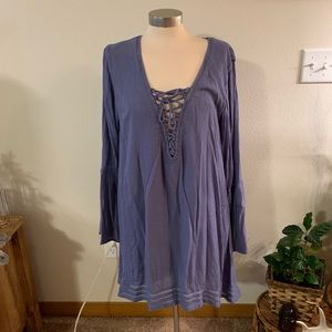 NWT • blue tunic dress